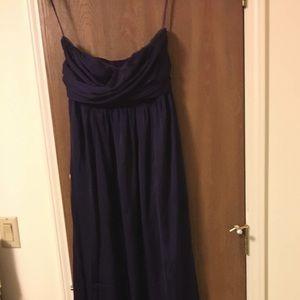 Dark Purple Strapless Gown